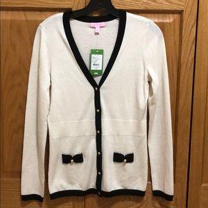 Lilly Pulitzer Cody cardigan sweater cameo white